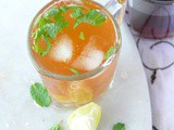Homemade iced tea recipe lemon (with)/and mint