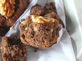 How to make walnut muffins /eggless chocolate walnut muffins