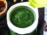 Make green chutney (hari) for chaats sandwiches