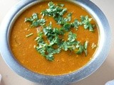 Sambar with coconut/Amma sambar/Tomato sambar for idli and dosa