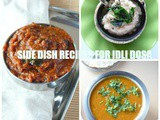 Side dish recipes for idli and dosa /easy chutney/sambar