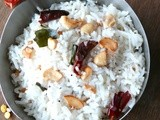 Simple coconut rice recipe/(Grated)Thengai sadam