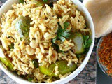 Vangi bath rice recipe /brinjal rice(bhath)