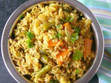 Vegetable biryani pressure cooker method /veg biriyani recipe