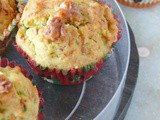 Zucchini muffins recipe /with walnuts
