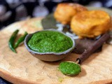 Apple Cilantro Chutney | Green Chutney with Apple | Gluten Free and Vegan Recipe
