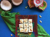 Thengai Burfi | Traditional South Indian Style Coconut Burfi | Stepwise Pictures | Festival Special Recipe
