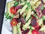 Blt Pasta with Avocado Dressing