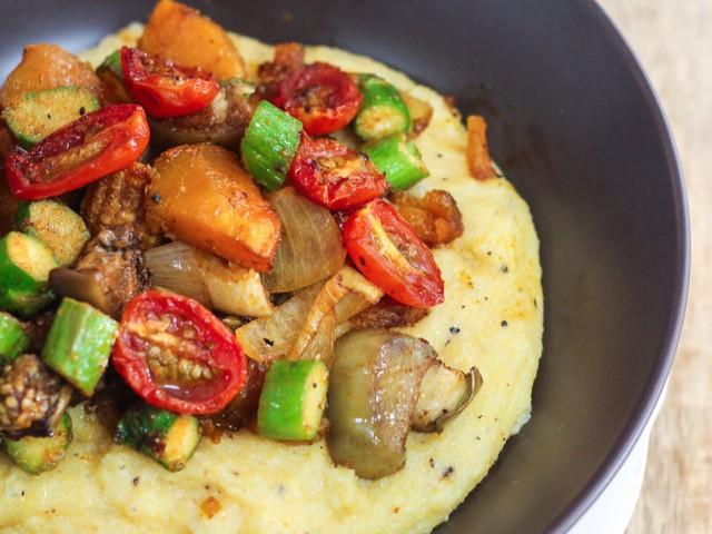 Polenta with Grilled Vegetables   Grilled veggies, Grilled