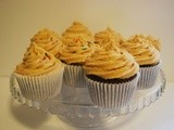 Devils Food Cake Cupcakes with Peanut Buttercream