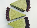 Matcha buttermilk white bottom pie