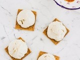 No Churn Tahini Ice Cream with Mulberry Molasses