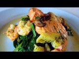 Seared Salmon with Sauteed Spinach and Mushrooms – Laura Vitale – Laura in the Kitchen Ep 323
