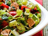 Fattoush Salad Recipe….Salad with Pita Bread Croutons