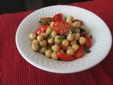 Chickpea and Tomato Basil Salad