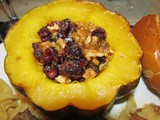 Cranberry Stuffed Acorn Squash