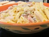 Creamy Grilled Chicken and  Mushroom  Pasta