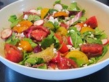 Heirloom Tomato Salad with Middle East Inspired Sumac Dressing