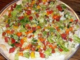 Israeli  Salad  Pizza