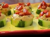 Mediterranean Cucumber Hors d`oeuvres