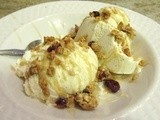 Middle Eastern Granola ice cream sundae