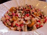Radish & Mandarin  Orange Salad with Tunisian Inspired Vinaigrette