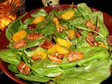 Spinach Citrus Salad with Spiced Pecans