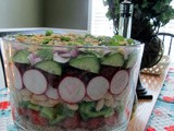 Ten commandment layered salad