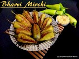 Bharvi Mirchi - a mouthwatering Appetizer | Side Dish made with Green Chilli Peppers stuffed with Chickpea Flour and aromatic Indian spices