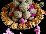 Flaxseed Millet Walnut Ladoo - a globe of goodness! Winter Special