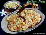 Jodhpuri Pulav - a rich mildly spiced Pilaf with the goodness of dry fruits and veggies