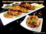 Oats Mushroom Sago Matki Sprouts Tikki - a lip smacking Tea Time Appetizer