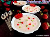 Strawberry Phirni - a delicious dessert with seasons fresh Strawberries