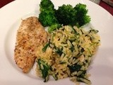 141.8…Three Cheese Orzo and Spinach
