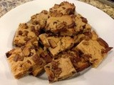 142.8…Peanut Butter Cup Blondies