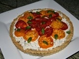 143.2…Heirloom Tomato Tart with Ricotta and Basil