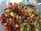 145.2...Pinto Bean Salad with Corn, Yellow Peppers, Tomatoes and Avocado
