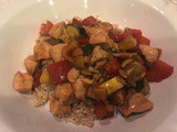 145.6...Chicken, Cashew and Vegetable Stir-Fry