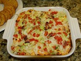 147.8...Baked blt Dip with Cheddar Cheese and Corn Chips