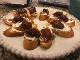 148.2...Fig & Goat Cheese Bruschettas