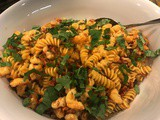 150.6...Fusilli with Shrimp in Sun-Dried Tomato Cream with Fresh Basil