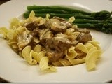 Beef Stroganoff with Parsley Noodles-Blog Hop