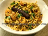Shrimp Biryani in Instantpot