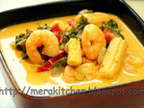 Thai Red Curry - with Shrimps and Veggies (curry paste made from scratch)