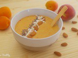 Smoothie bowl pêche abricot aux bcaa