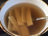 Chicken Broth & Homemade Noodles