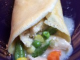Chicken Pot Pie Crepes