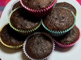 Double Dark Chocolate Banana Muffins
