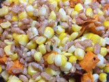 Farro, Corn & Roasted Sweet Potatoes