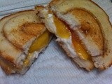 Grilled Peaches & Cinnamon Bread